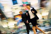 Businesspeople hurrying
