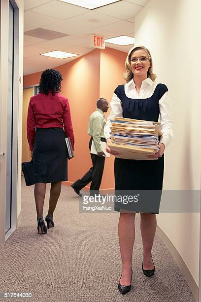 Businesspeople in a corridor