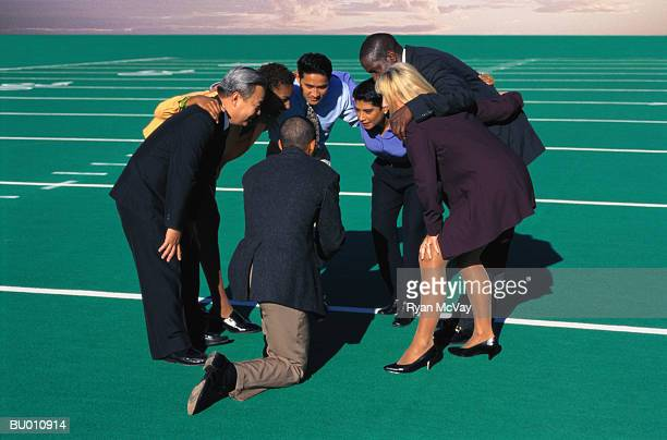 Businesspeople in a Huddle