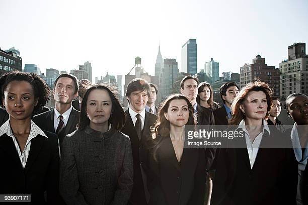 Businesspeople in city