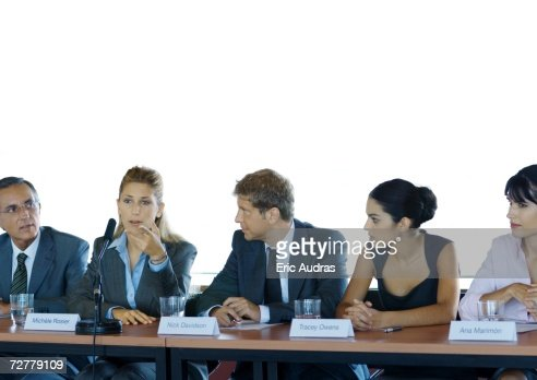 Businesspeople in committee meeting : Stock Photo