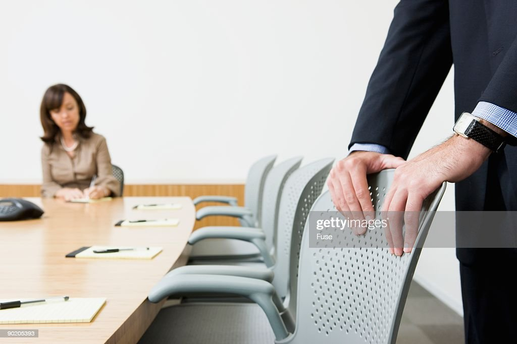 Businesspeople in conference room : Stock Photo