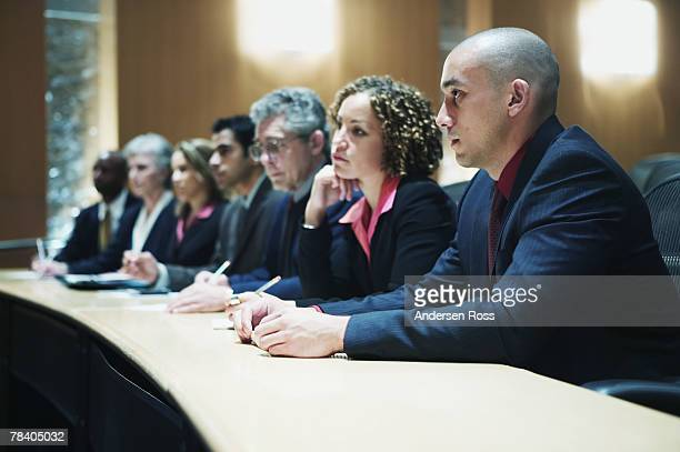 Businesspeople in judge's panel