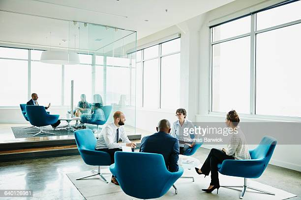 Businesspeople in meeting in office