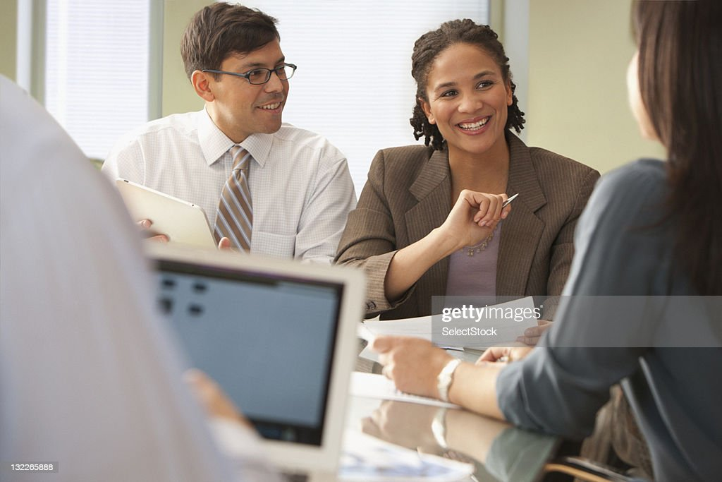 Businesspeople in meeting : Stock Photo