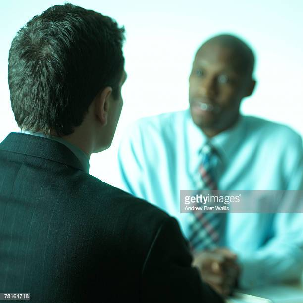 Businesspeople interviewing