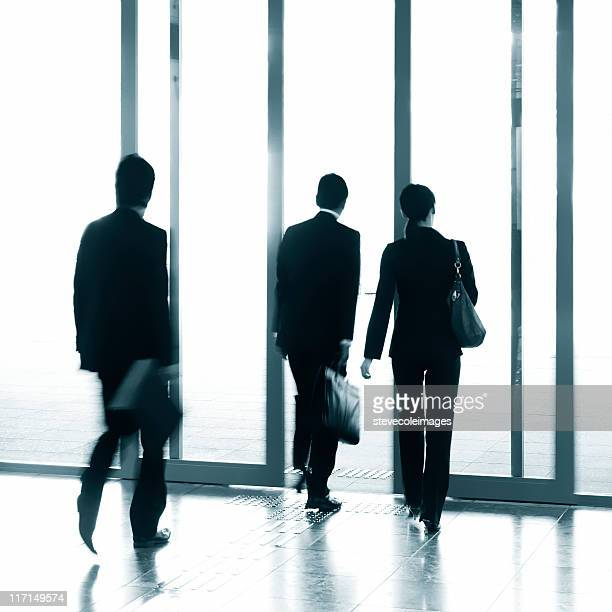 Businesspeople Leaving an Office Building