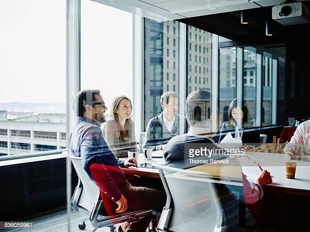 Businesspeople meeting in office conference room
