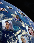 Businesspeople on a Globe