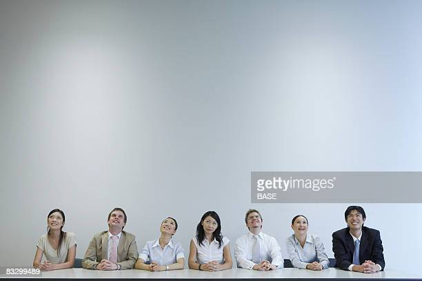 Businesspeople on Discussion Panel