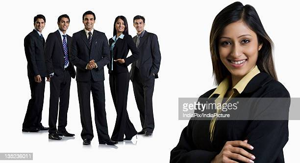 Businesspeople posing