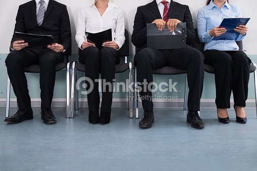 Businesspeople Sitting On Chair : Stock Photo