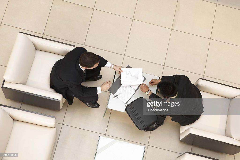 Businesspeople talking : Stock Photo