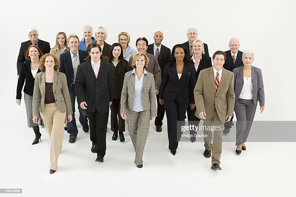 Businesspeople walking : Stock Photo