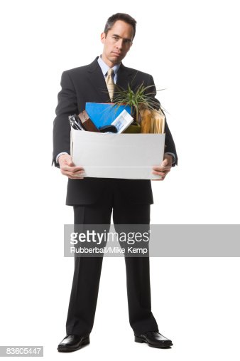 businessperson clearing out things