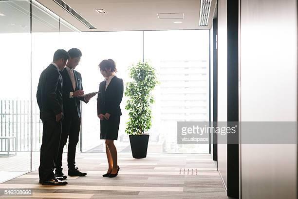 Businessteam discussing plans.