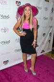 Businesswoman Adrienne Maloof arrives at the Kentucky Derby Celebration Ladies Luncheon at the Four Seasons Hotel on May 3 2014 in Westlake Village...