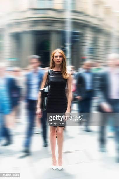 Businesswoman among men