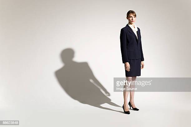 Businesswoman and shadow