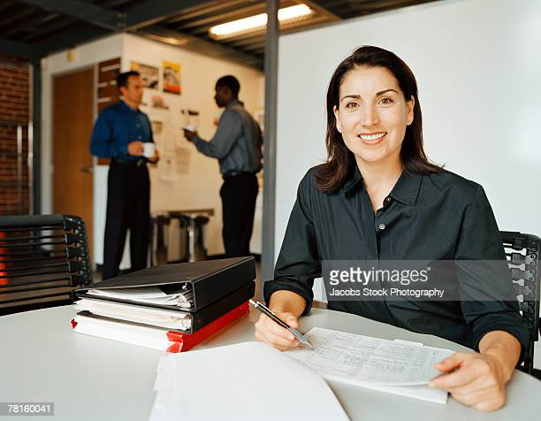 Businesswoman at table