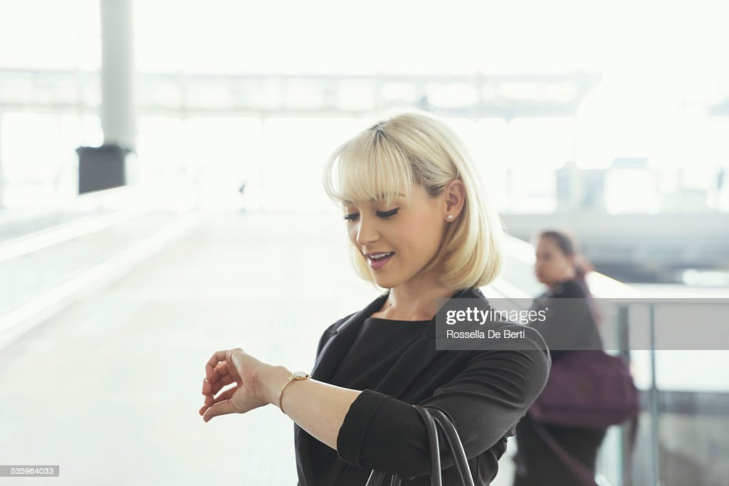Businesswoman At The Airport : Stock Photo