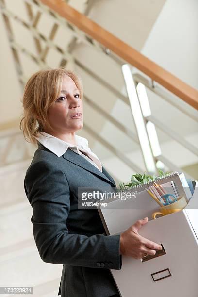 Businesswoman being fired