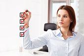 Businesswoman checklist