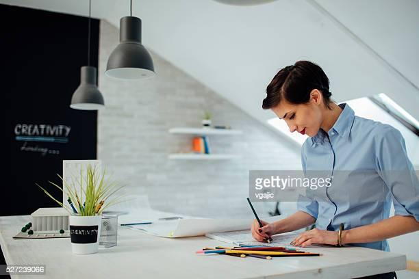 Femme d'affaires livre de coloriage