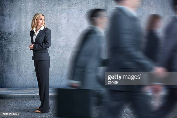 Businesswoman Feeling She Is Being Left Behind