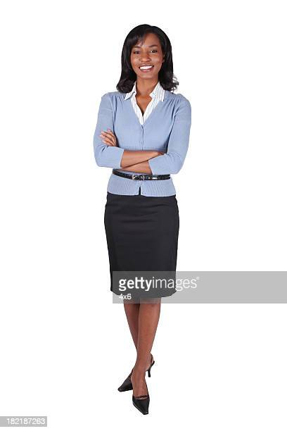 Businesswoman folding her arms