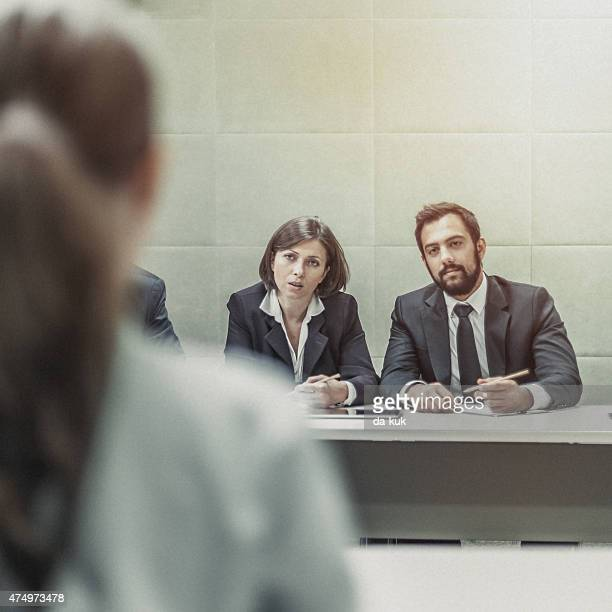 Geschäftsfrau wird INTERVIEWT