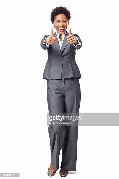 Businesswoman Giving Thumbs Up - Isolated