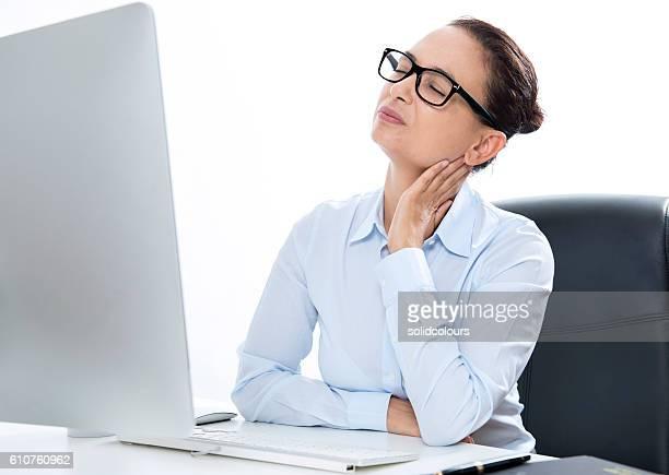 Businesswoman Having Neckache