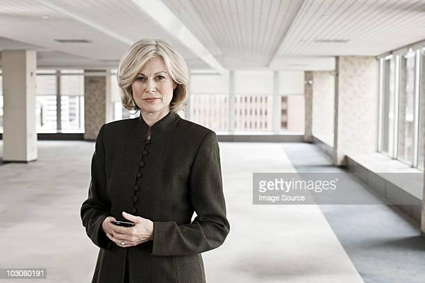 Businesswoman in empty office space