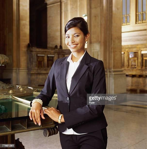 Businesswoman in Lobby