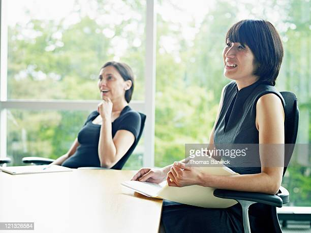 Businesswoman in meeting in conference room