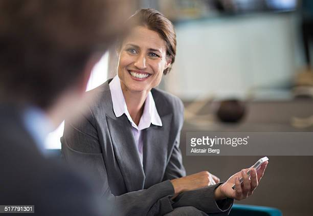 Businesswoman in meeting in hotel