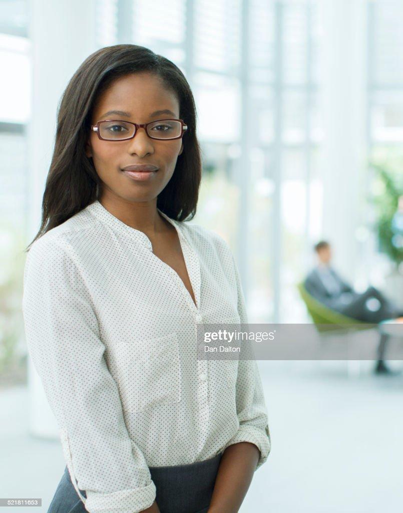 Businesswoman in office building