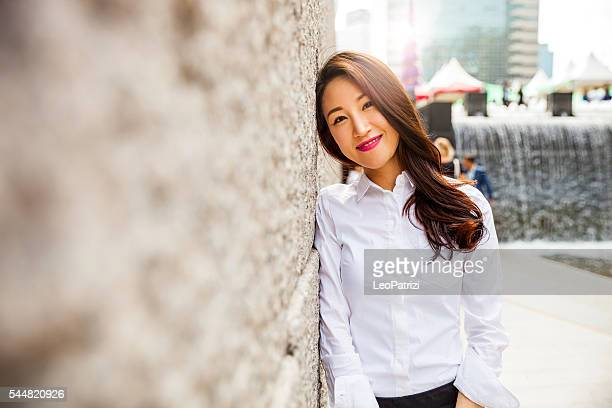 Businesswoman in Seoul downtown