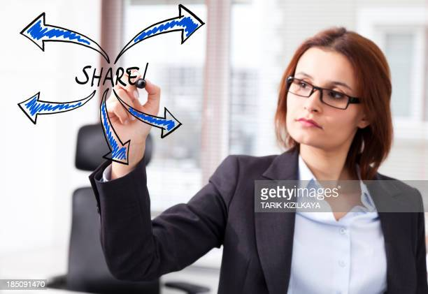 Donna d'affari al social media.