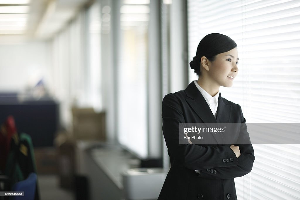 businesswoman in the office : Stock Photo