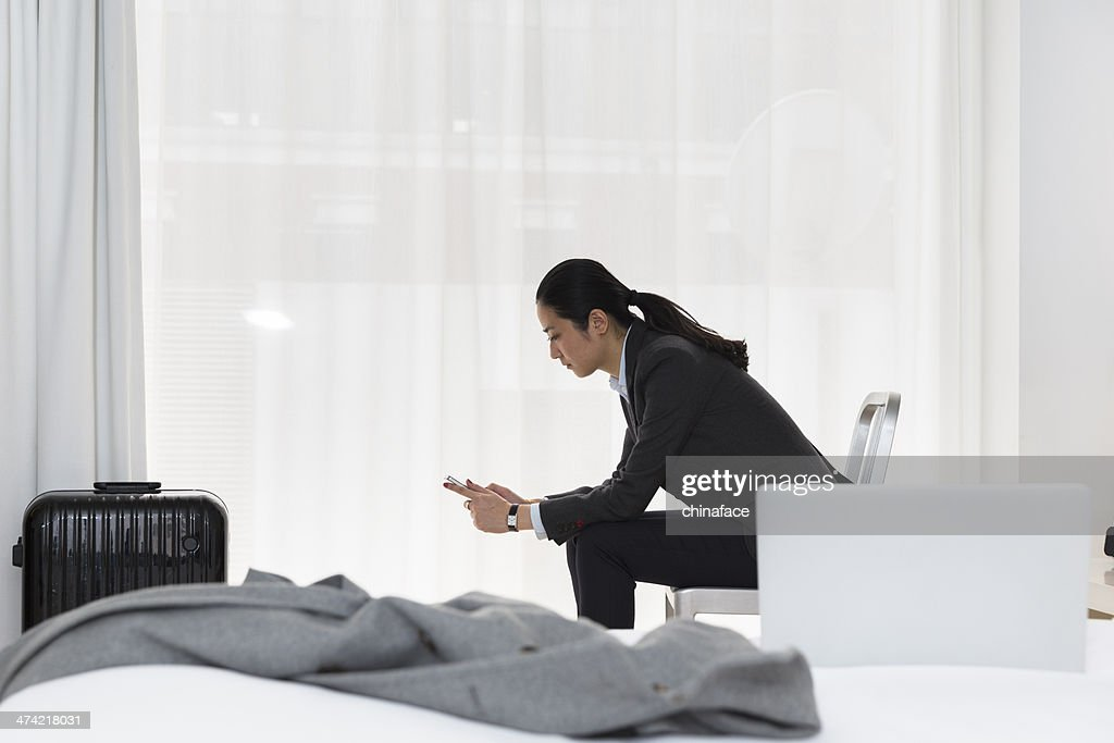businesswoman in the room : Stock Photo