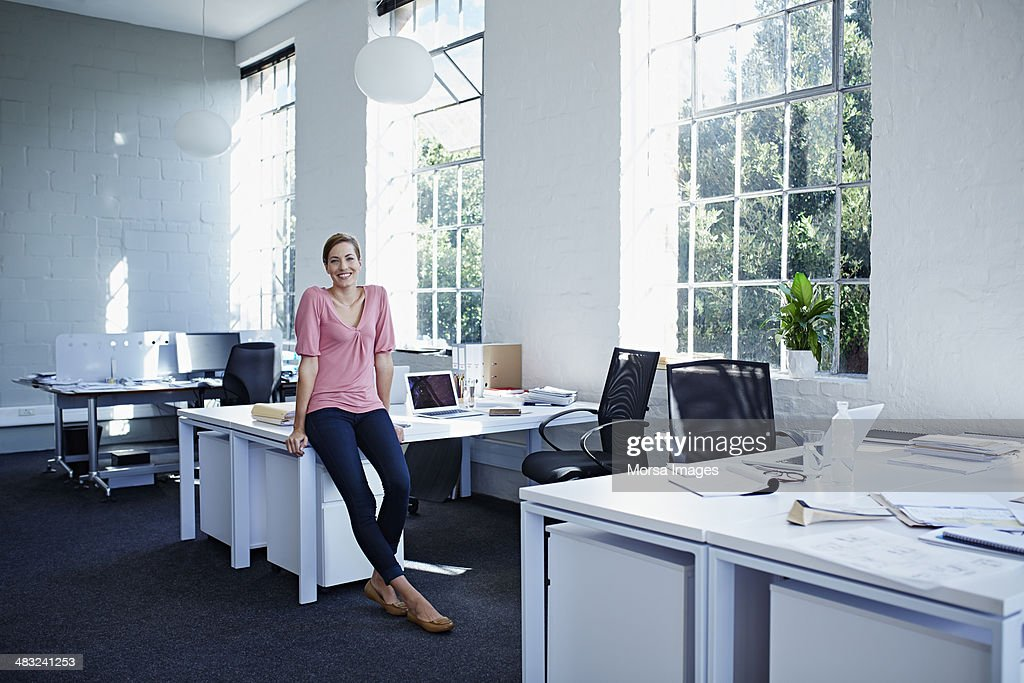 Businesswoman In Trendy Office Stock Photo Getty Images
