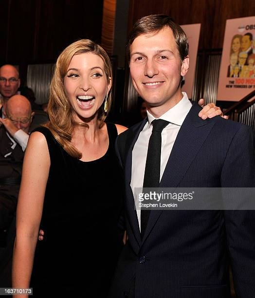 Businesswoman Ivanka Trump and New York Observer Publisher Jared Kushner attend The New York Observer 25th Anniversary Party at Four Seasons...