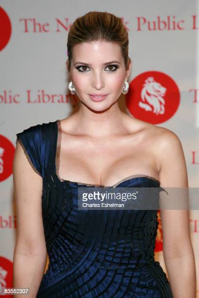 Businesswoman Ivanka Trump arrives at the 2008 Library Lions benefit at the New York Public Library's Humanities and Social Sciences Library on...