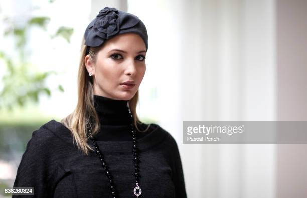 Businesswoman Ivanka Trump wearing jewelry from her own collection is photographed for Financial Times on September 12 in New York City