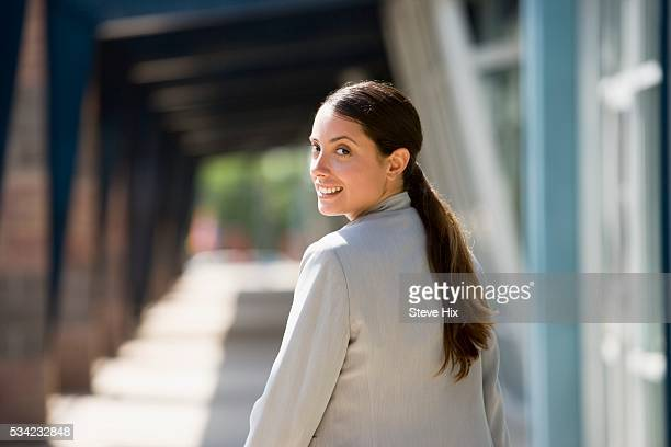 Businesswoman Looking Back