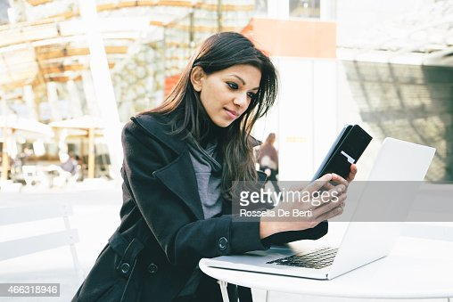 Businesswoman Making A Video Call Using Smartphone