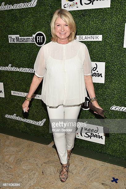 Businesswoman Martha Stewart attends the 2015 Couture Council luncheon honoring Manolo Blahnik at David H Koch Theater Lincoln Center on September 9...