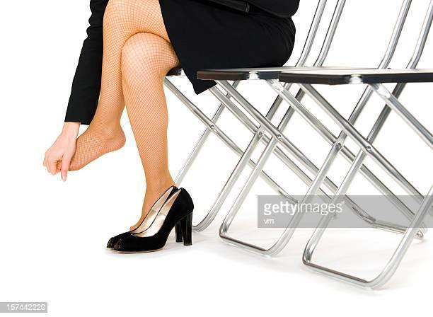 マッサージは足のビジネスウーマン